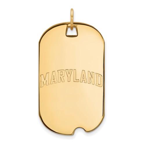 14k Yellow Gold MARYLAND Dog Tag