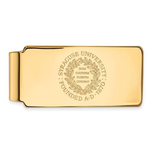 Syracuse University Crest Money Clip 10k Yellow Gold