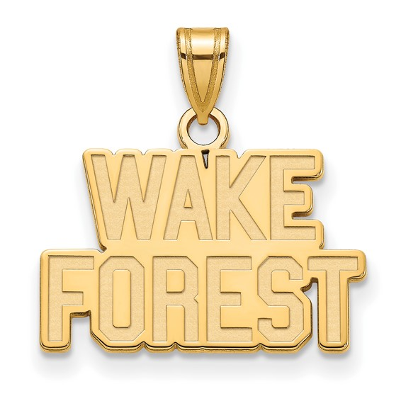 Wake Forest University Logo Charm 1/2in 14k Yellow Gold