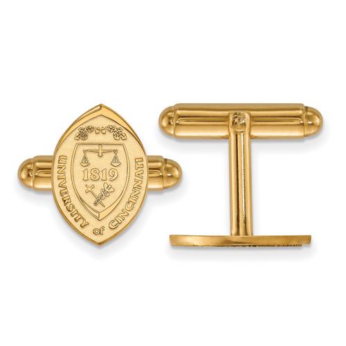 14k Yellow Gold University Of Cincinnati Crest Cuff Links