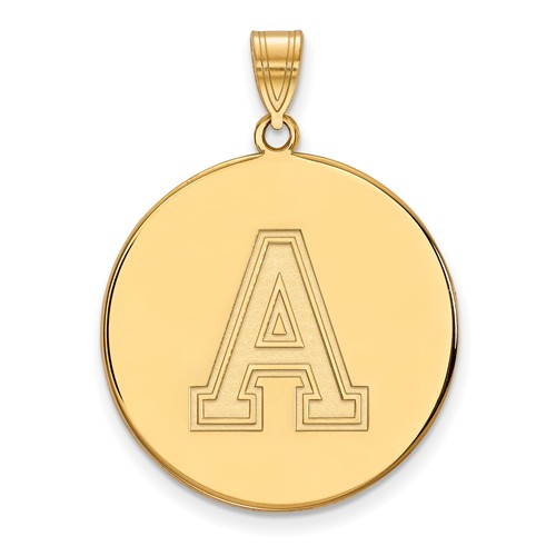 United States Military Academy Disc Pendant 1in 10k Yellow Gold
