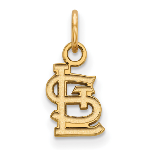 14kt Yellow Gold 3/8in St. Louis Cardinals STL Pendant