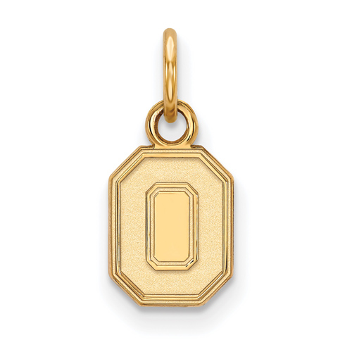 10kt Yellow Gold 3/8in Ohio State University Block O Pendant