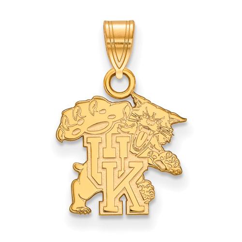 10kt Yellow Gold 1/2in University of Kentucky Wildcat Pendant