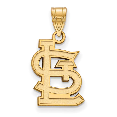 10kt Yellow Gold 5/8in St. Louis Cardinals STL Logo Pendant