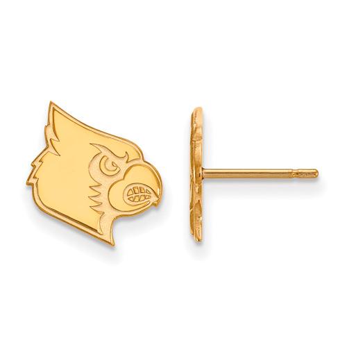 10k Yellow Gold University of Louisville Louis Stud Earrings
