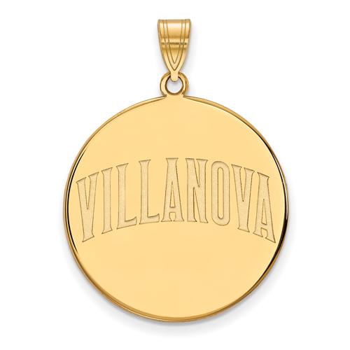 Villanova University Round Pendant 1in 10k Yellow Gold