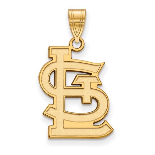 10kt Yellow Gold 3/4in St. Louis Cardinals STL Logo Pendant