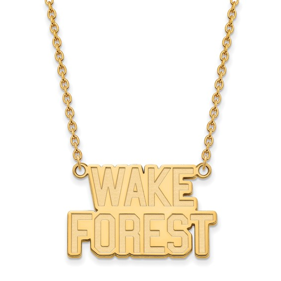 Wake Forest University Logo Necklace 3/4in 10k Yellow Gold