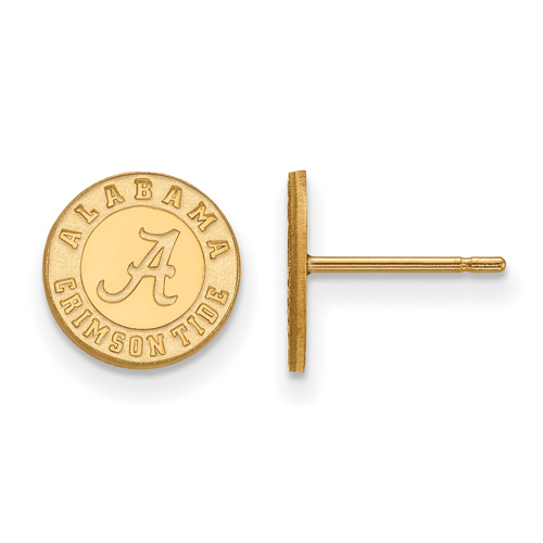 University of Alabama Crimson Tide XS Earrings 14k Yellow Gold