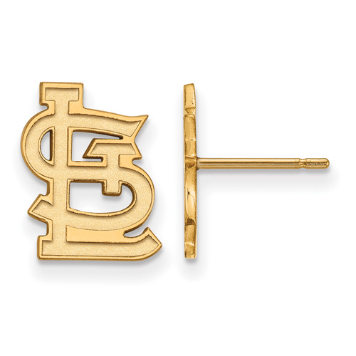 14kt Yellow Gold St. Louis Cardinals STL Post Earrings