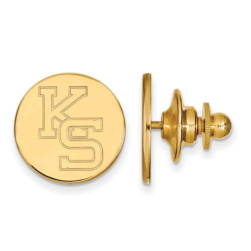 Kansas State University Round Lapel Pin 14k Yellow Gold