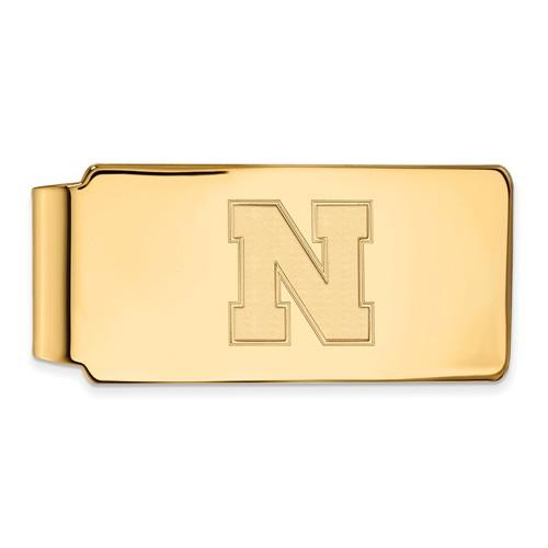 10kt Yellow Gold University of Nebraska N Money Clip