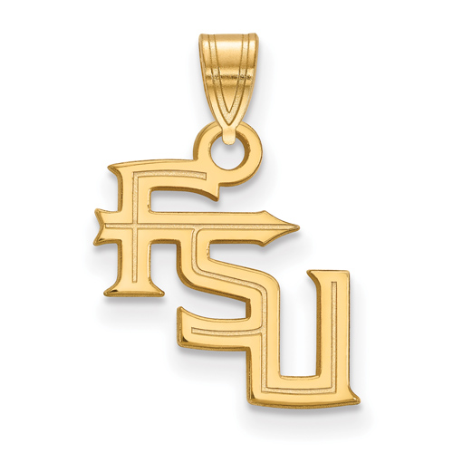 10kt Yellow Gold 1/2in Florida State University FSU Pendant