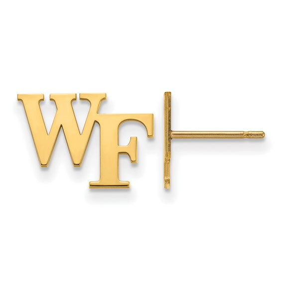 Wake Forest University WF Tiny Earrings 14k Yellow Gold