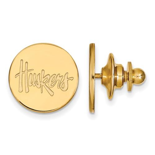 14kt Yellow Gold University of Nebraska Huskers Lapel Pin