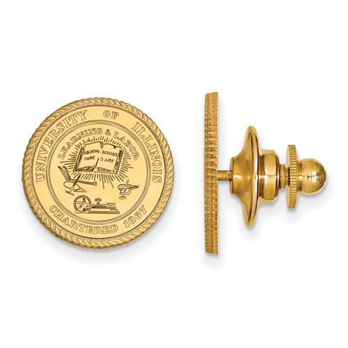 14kt Yellow Gold University of Illinois Crest Lapel Pin
