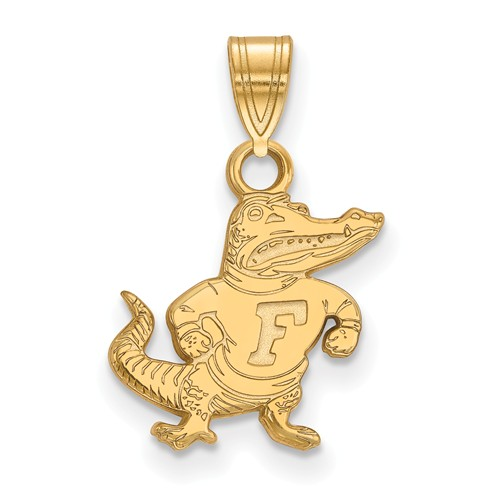 14kt Yellow Gold 1/2in University of Florida Albert Pendant