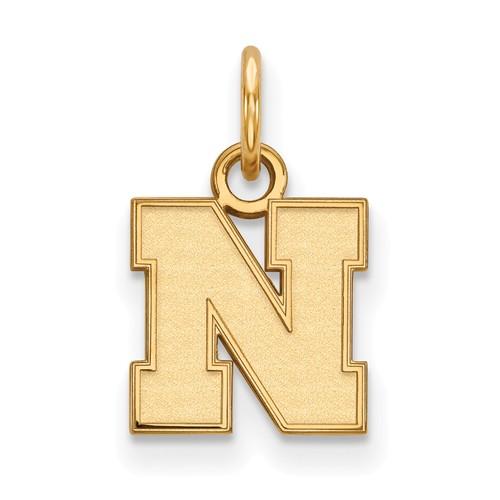 10kt Yellow Gold 3/8in University of Nebraska N Pendant