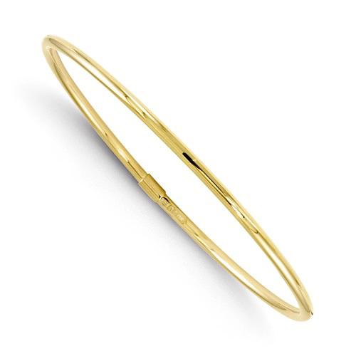 10kt Yellow Gold 2mm Italian Slip-on Polished Bangle