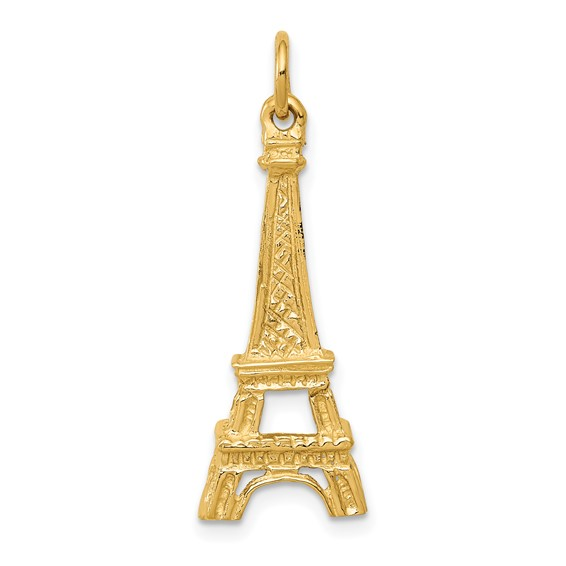 14kt Yellow Gold 1in Eiffel Tower Charm