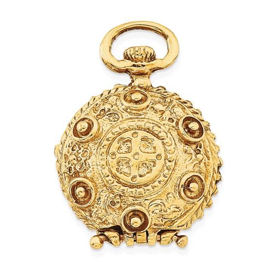 14kt Yellow Gold 3/4in Fancy Domed Locket