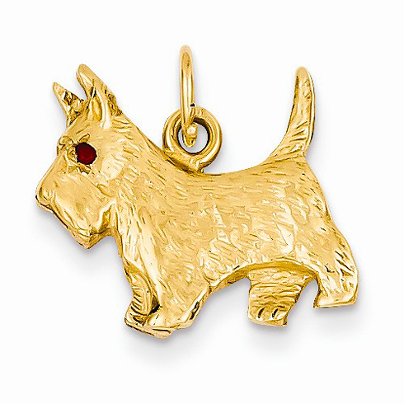 14kt Yellow Gold 3-D Scottie Dog Charm