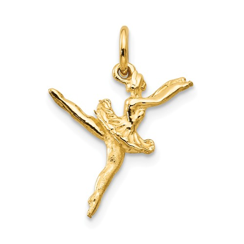 14kt Yellow Gold 3/4in Ballerina Charm