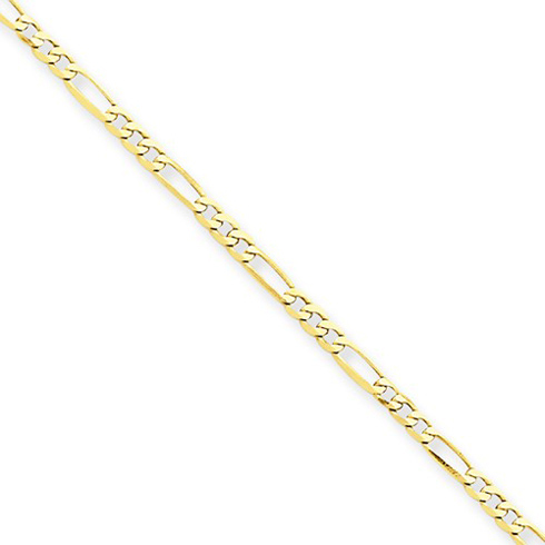 14kt Yellow Gold 10in Figaro Link Anklet