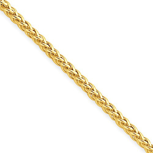 14kt Yellow Gold 18in Hollow Wheat Chain 2.0mm