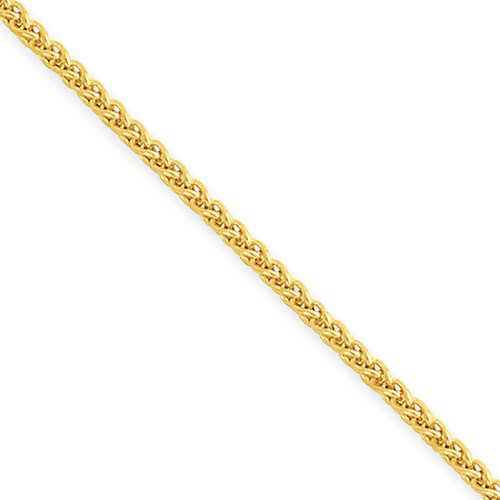 14kt Yellow Gold 16in Hollow Wheat Chain 1.45mm