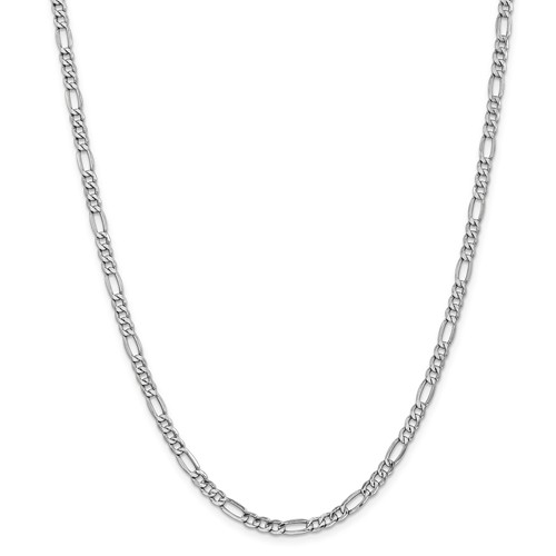 14kt White Gold 20in Hollow Figaro Chain 4.75mm