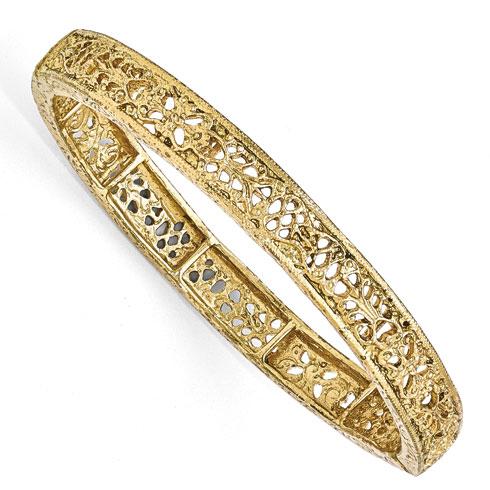 Gold-tone Downton Abbey Stretch Filigree Bracelet