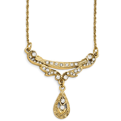 Gold-tone Downton Abbey Pear Drop Necklace