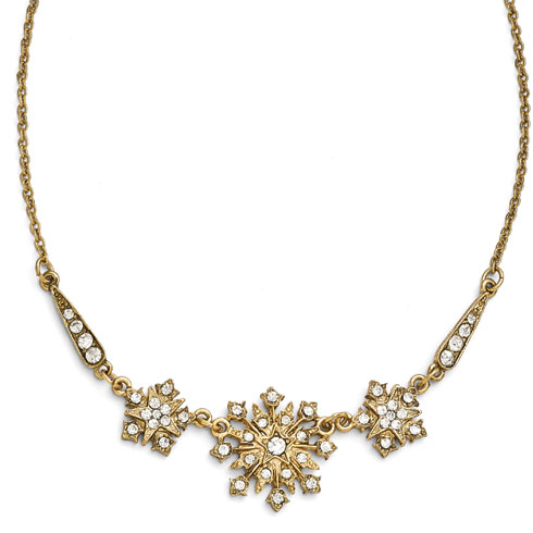 Gold-tone Downton Abbey Starburst Statement Necklace
