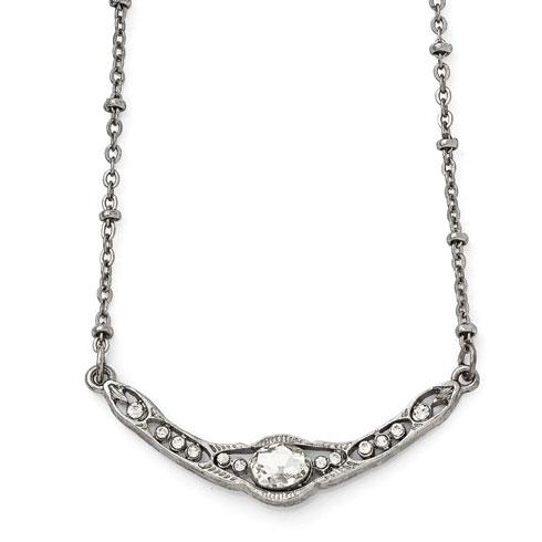 Silver-tone Downton Abbey Crystal Collar Necklace