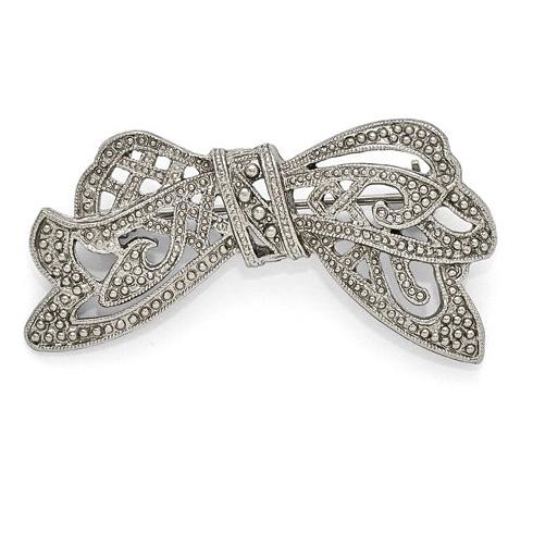 Silver-tone Downton Abbey Bow Pin