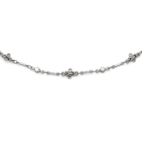 Silver-tone Downton Abbey Sleek 36in Necklace