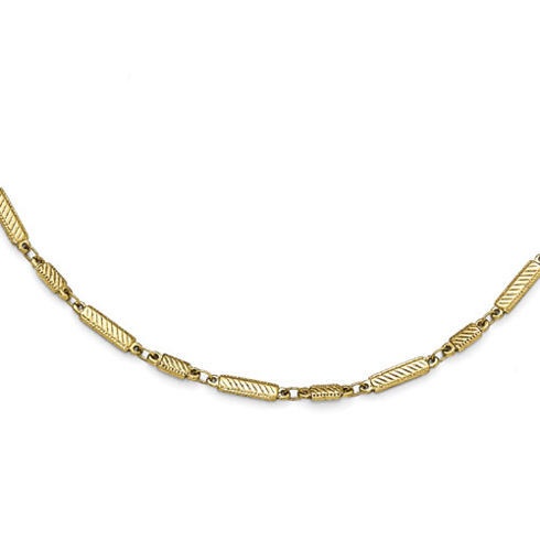 Gold-tone Downton Abbey Bar 36in Necklace