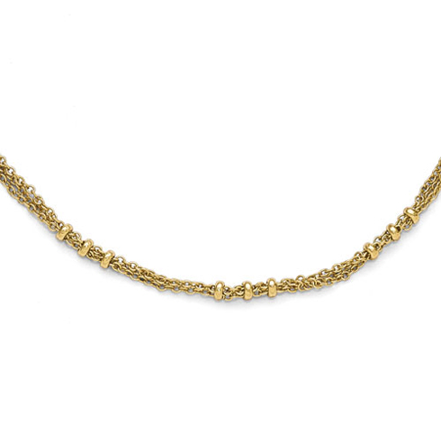 Gold-tone Downton Abbey Beaded Design 36in Necklace