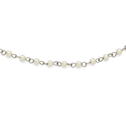 Silver-tone Downton Abbey Simulated Pearl 36in Necklace