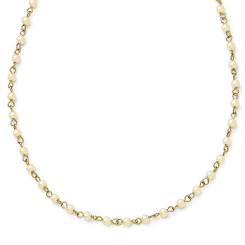 Gold-tone Downton Abbey Simulated Pearl 36in Necklace