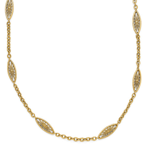 Gold-tone Downton Abbey Fan 36in Necklace