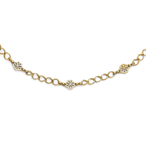 Gold-tone Downton Abbey Intertwined Hearts 36in Necklace