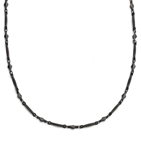 Downton Abbey Black-plated 36in Necklace