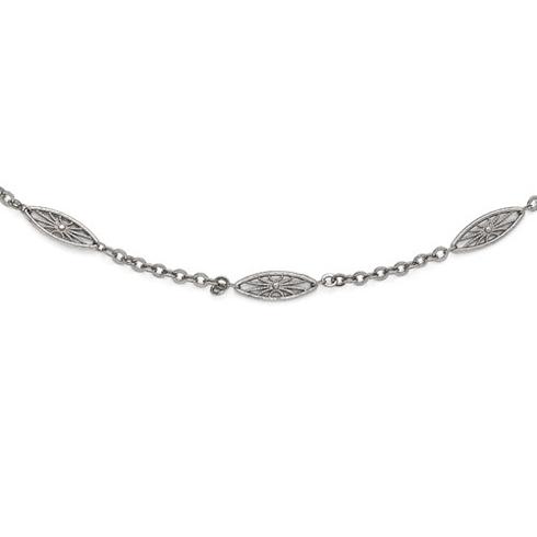 Silver-tone Downton Abbey Fan 36in Necklace