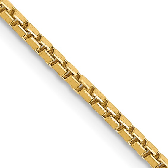 14kt Yellow Gold 20in Box Link Chain 1.5mm