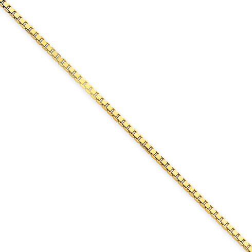 14kt Yellow Gold 18in Box Link Chain 1.5mm