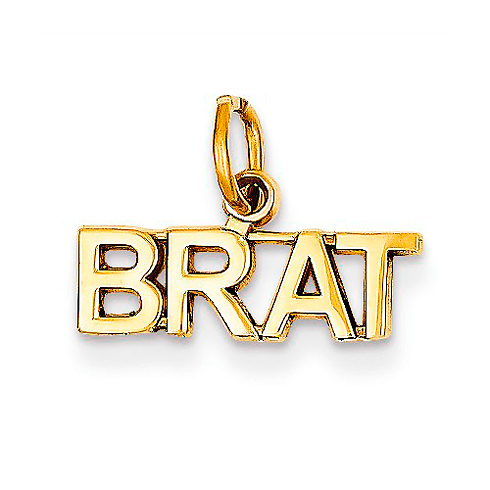 14kt Yellow Gold Polished Brat Charm
