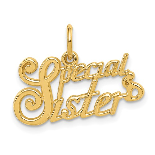 14kt Yellow Gold Special Sister Charm